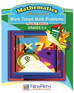 More Timed Math Problems - Book 2 - Grades 3 - 4 - Downloadable eBook