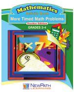 More Timed Math Problems Workbook - Book 2 - Grades 3 - 4 - Print Version