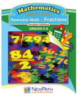Remedial Math Series - Fractions Workbook - Grades 5 - 6 - Downloadable eBook