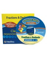 Fractions & Decimals Interactive Whiteboard CD-ROM - Grades 3 - 6 - Site License