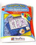 Phonics Board Games Workbook - Grades 1 - 2 - Print Version