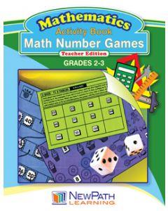 Math Number Games Workbook - Grades 2 - 3 - Downloadable eBook