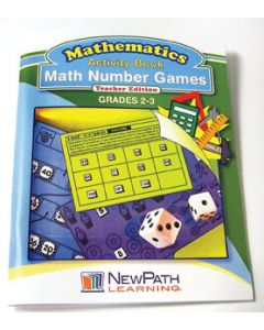 Math Number Games Workbook - Grades 2 - 3 - Print Version