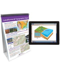 Earth's Surface Curriculum Mastery® Flip Chart Set With MULTIMEDIA Lesson