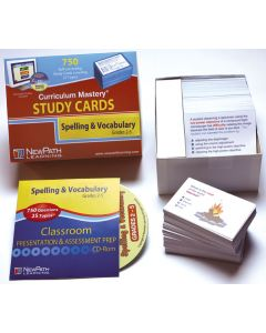 Mastering Spelling, Vocabulary & High Frequency Words - Grade 2 Study Cards