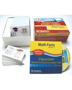 Math Facts - Grades 2 - 5 Study Cards
