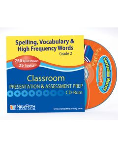 Mastering Spelling, Vocabulary & High Frequency Words Interactive Whiteboard CD-ROM - Grade 2 - Site License
