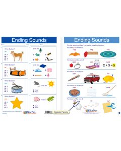 "Ending Sounds  -  Laminated, ""Write-On/Wipe-Off"" Visual Learning Guide Gr. 1"