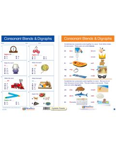 "Consonant Blends -  Laminated, ""Write-On/Wipe-Off"" Visual Learning Guide Gr. 1"