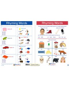 "Rhyming Words - Laminated, ""Write-On/Wipe-Off"" Visual Learning Guide Gr. 1"