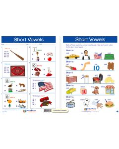 "Short Vowels - Laminated, ""Write-On/Wipe-Off"" Visual Learning Guide Gr. 1"