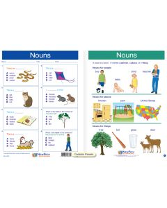 "Nouns  - Laminated, ""Write-On/Wipe-Off"" Visual Learning Guide Gr. 1"