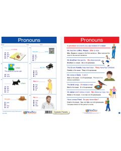 "Pronouns- Laminated, ""Write-On/Wipe-Off"" Visual Learning Guide Gr. 1"