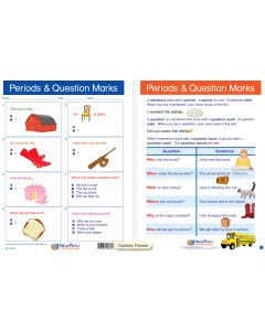 "Periods & Question Marks - Laminated, ""Write-On/Wipe-Off"" Visual Learning Guide Gr. 1"