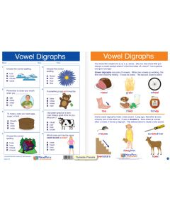 "Vowel Digraphs - Laminated, ""Write-On/Wipe-Off"" Visual Learning Guide Gr. 2"