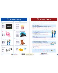 "Contractions - Laminated, ""Write-On/Wipe-Off"" Visual Learning Guide Gr. 2"