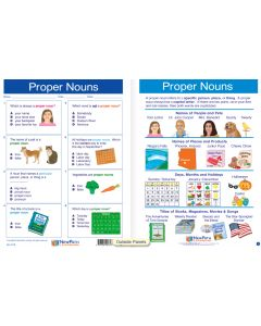 "Proper Nouns - Laminated, ""Write-On/Wipe-Off"" Visual Learning Guide Gr. 2"