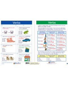 "Verbs  - Laminated, ""Write-On/Wipe-Off"" Visual Learning Guide Gr. 2"