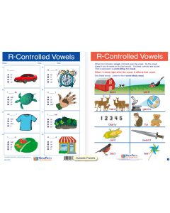 "R-Controlled Vowels   - Laminated, ""Write-On/Wipe-Off"" Visual Learning Guide Gr. 3"