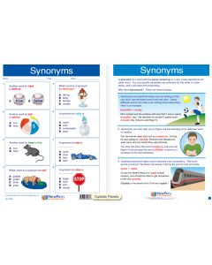 "Synonyms - Laminated, ""Write-On/Wipe-Off"" Visual Learning Guide Gr. 3"