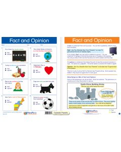 "Fact and Opinion - Laminated, ""Write-On/Wipe-Off"" Visual Learning Guide Gr. 3"