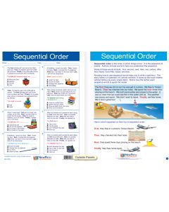 "Sequential Order - Laminated, ""Write-On/Wipe-Off"" Visual Learning Guide Gr. 3"