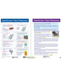 "Nonfiction Text Features - Laminated, ""Write-On/Wipe-Off"" Visual Learning Guide Gr. 4"