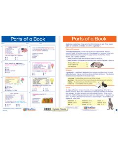 """Parts of a Book - Laminated, """"Write-On/Wipe-Off"""" Visual Learning Guide Gr. 4"""