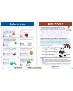 "Inferences - Laminated, ""Write-On/Wipe-Off"" Visual Learning Guide Gr. 4"