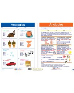 "Analogies - Laminated, ""Write-On/Wipe-Off"" Visual Learning Guide Gr. 4"