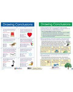 """Drawing Conclusions - Laminated, """"Write-On/Wipe-Off"""" Visual Learning Guide Gr. 5"""