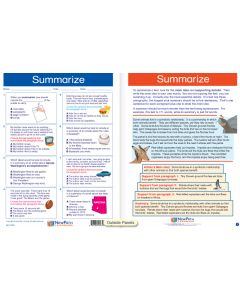 """Summarize - Laminated, """"Write-On/Wipe-Off"""" Visual Learning Guide Gr. 5"""