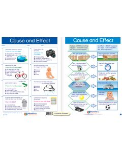 "Cause and Effect - Laminated, ""Write-On/Wipe-Off"" Visual Learning Guide Gr. 5"