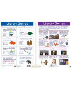 """Literary Genres - Laminated, """"Write-On/Wipe-Off"""" Visual Learning Guide Gr. 5"""