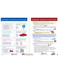 """Punctuation: Apostrophes & Quotation Marks - Laminated, """"Write-On/Wipe-Off"""" Visual Learning Guide Gr. 5"""