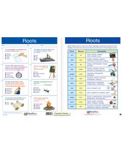 """Roots - Laminated, """"Write-On/Wipe-Off"""" Visual Learning Guide Gr. 6"""