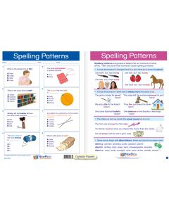 "Spelling Patterns - Laminated, ""Write-On/Wipe-Off"" Visual Learning Guide Gr. 6"