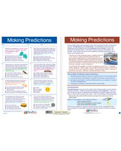 "Making Predictions - Laminated, ""Write-On/Wipe-Off"" Visual Learning Guide Gr. 6"