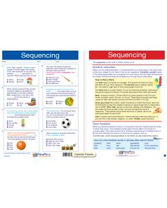 "Sequencing- Laminated, ""Write-On/Wipe-Off"" Visual Learning Guide Gr. 6"