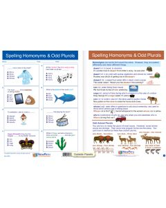 "Spelling Homonyms & Odd Plurals - Laminated, ""Write-On/Wipe-Off"" Visual Learning Guide Gr. 6"