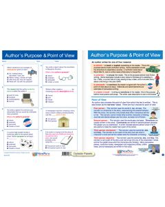 "Author's Purpose & Point of View - Laminated, ""Write-On/Wipe-Off"" Visual Learning Guide Gr. 7"