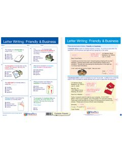 "Letter Writing: Friendly & Business  - Laminated, ""Write-On/Wipe-Off"" Visual Learning Guide Gr. 7"