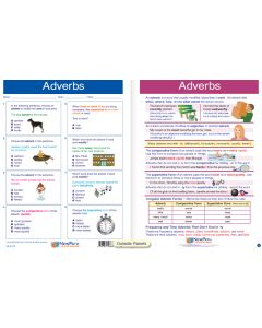 "Adverbs  - Laminated, ""Write-On/Wipe-Off"" Visual Learning Guide Gr. 8"