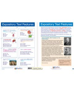 "Expository Text Features - Laminated, ""Write-On/Wipe-Off"" Visual Learning Guide Gr. 8"