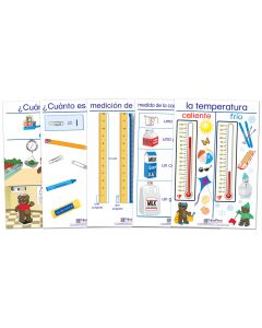 Measurement Bulletin Board Chart Set of 5 - Early Childhood Spanish Edition