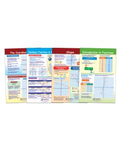 """Graphs and Functions Bulletin Board Chart Set of 4 - Laminated - """"Write-On - Wipe Off"""" - 18"""" x 12"""""""