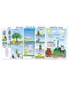 All About Weather Bulletin Board Chart Set of 5 - Early Childhood