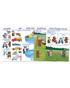 Pushing, Pulling & Moving Bulletin Board Chart Set of 5 - Early Childhood
