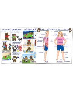 All About Me Bulletin Board Chart Set of 5 - Early Childhood Spanish Edition