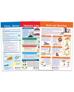 Force & Motion Bulletin Board Chart Set of 3, Gr. 3-5